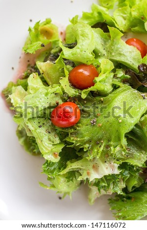 Healthy salad isolated on white.  - stock photo
