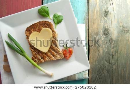 Healthy sandwich - stock photo