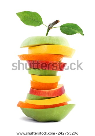 Healthy Slim Fruit mix - stock photo