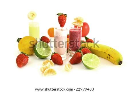 Healthy smoothies - stock photo