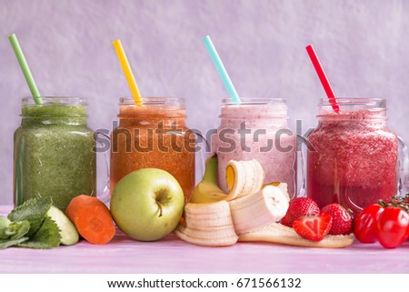Healthy smoothies from fresh ingredients slimming