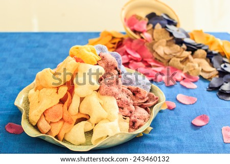 Healthy vegetable chips - stock photo