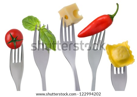 healthy vegetarian food groups protein carbohydrate fruits vegetables and fats - stock photo