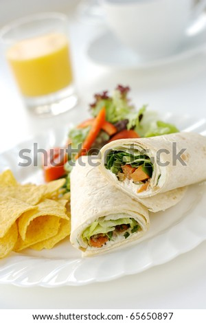 Healthy vegetarian lunch - stock photo