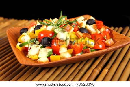 Healthy vegetarian salad - stock photo