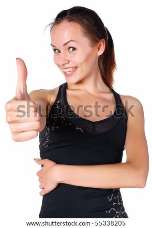 healthy woman - stock photo
