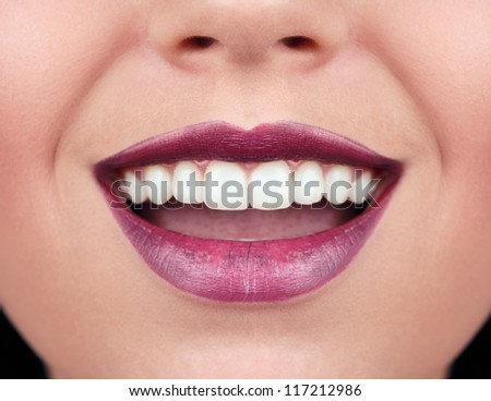 Healthy woman teeth and smile. - stock photo
