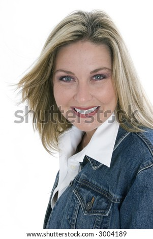 Healthy young woman with a great smile