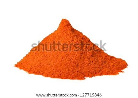 Heap ground Red pepper isolated on white background