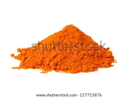 Heap ground Red pepper isolated on white background - stock photo