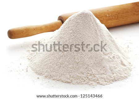 heap od wheat flour - stock photo