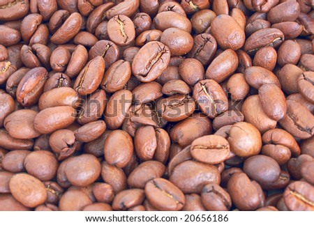heap of coffee beans, high dinamic range image (HDR)