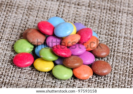 heap of colorful candy drops - stock photo