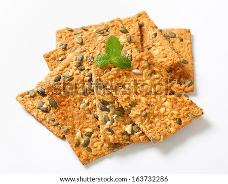heap of crispy breads with seeds