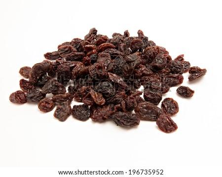 Heap of dark raisins - stock photo
