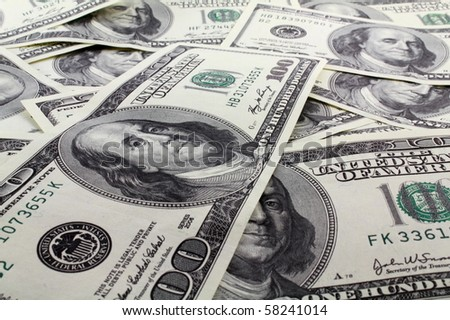 heap of dollars money - stock photo