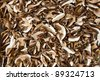 Heap of dried edible mushrooms on the market - stock photo