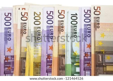 Heap of Euro Notes. A pile of European Union banknotes - stock photo