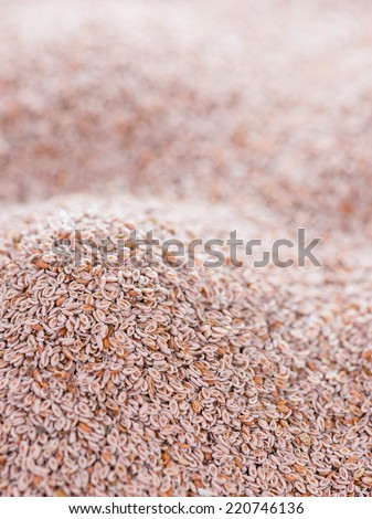 Heap of fresh Psyllium seeds for use as background image