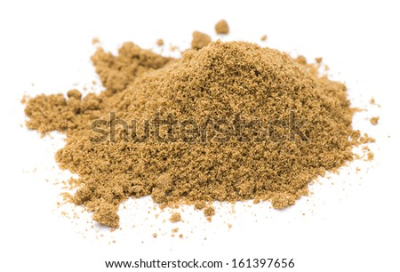 Heap of ground cumin isolated on white background - stock photo