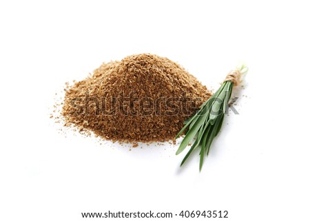 heap of oat bran and oat's sprouts/ diet food - stock photo