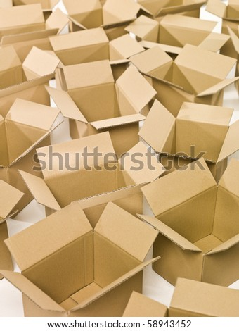 Heap of Packages on white background