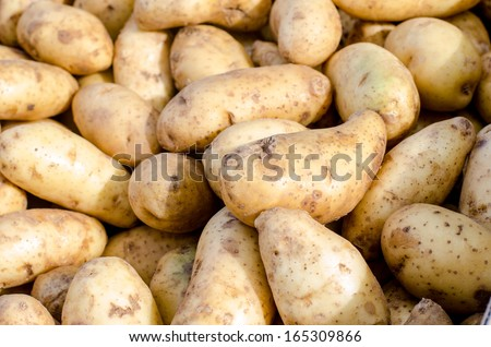 Heap of potato - food background - stock photo
