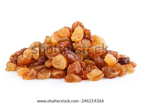 Heap of raisin on a white background  - stock photo
