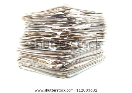 heap of roles ready to classify - stock photo