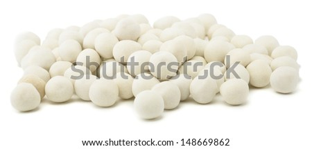 Heap of salted chickpeas isolated on white background - stock photo