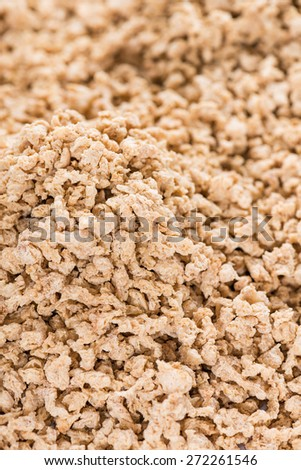 Heap of Soy meat (close-up shot) for use as background image or as texture - stock photo