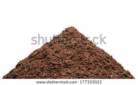 Heap of the soil - stock photo