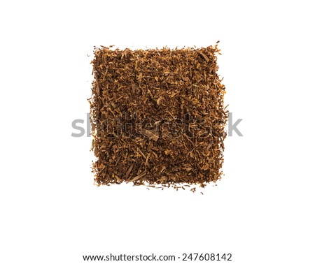 Heap of tobacco. Isolated on a white background. - stock photo