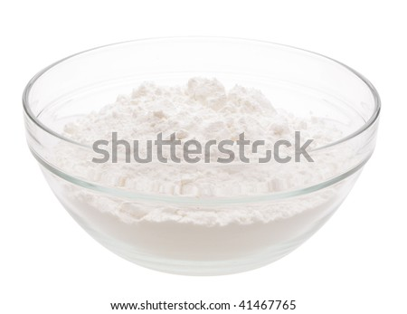 heap white meal in glass cup - stock photo