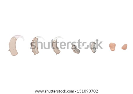 hearing aids, different kinds - stock photo