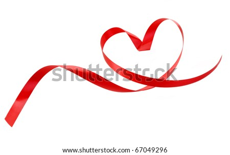 Heart a red tape - stock photo