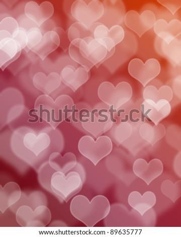 Heart Background Blur - stock photo