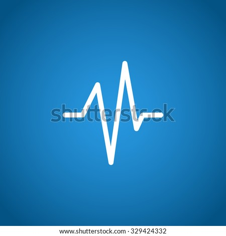 Heart beat, Cardiogram, Medical icon - . Flat design style  - stock photo