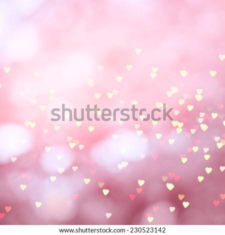 Heart Bokeh - stock photo