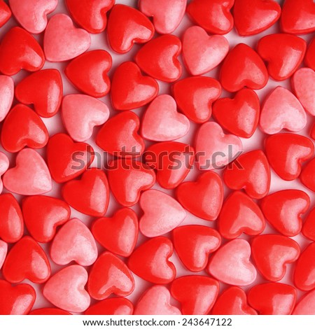 Heart Candy background.  Valentine's Day - stock photo