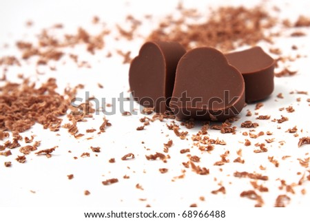 Heart chocolates - stock photo