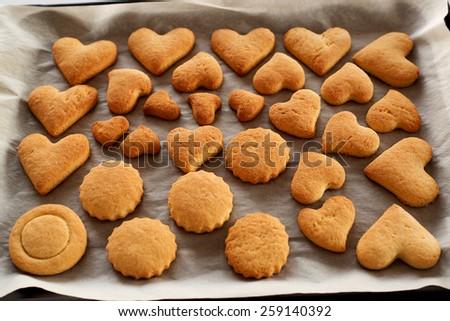 Heart cookies... - stock photo