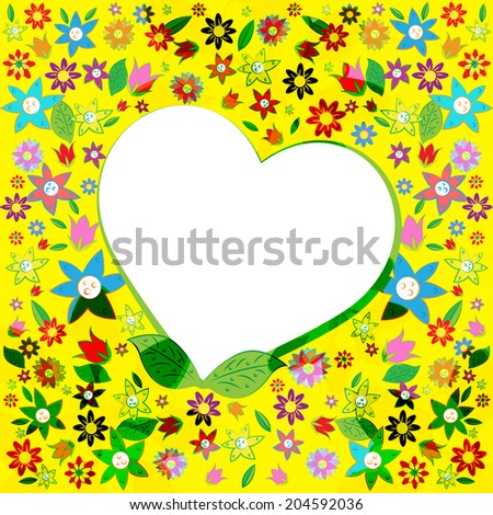 Heart Copyspace Showing Valentine Day And Copy-Space - stock photo