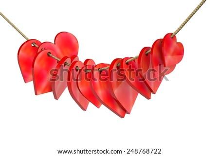 Heart decoration - stock photo