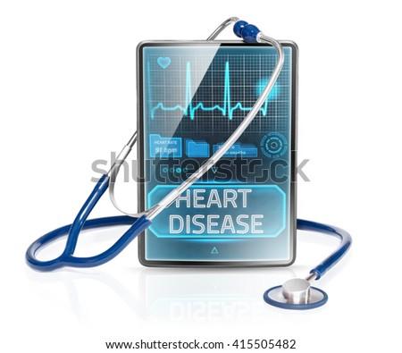 Heart disease - stock photo