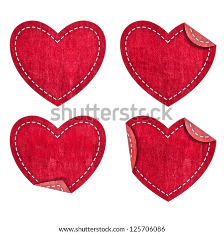 Heart from jean Valentines day collection - stock photo