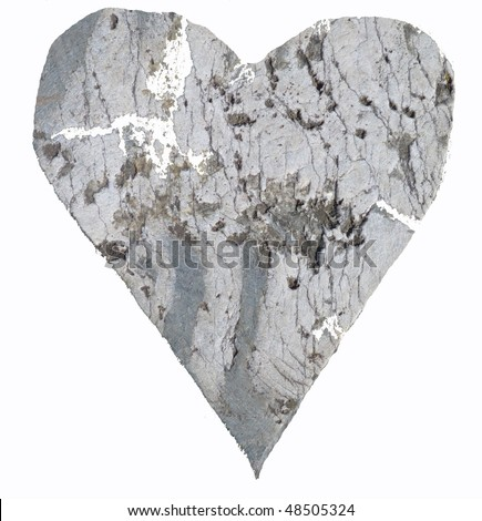 heart from wood - stock photo