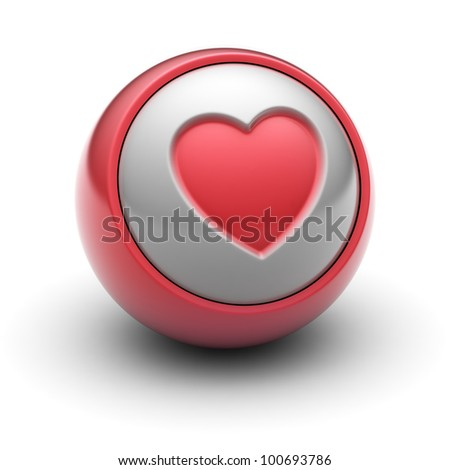 Heart Full collection of icons like that is in my portfolio - stock photo