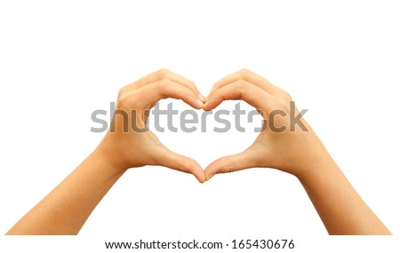 Heart hands - stock photo