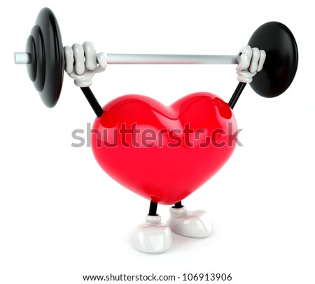 Heart health training weight. - stock photo